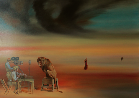 "Chef, Genia, ""Metro Goldwyn Mayer"", oil on canvas, 100 x 140 cm, 2014"