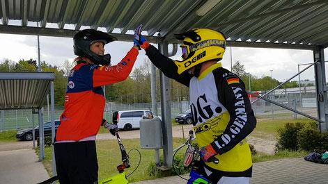 High Five beim BMX-Racing Selbstversuch