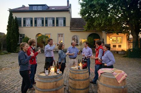 Feierabend auf dem Weingut Stolleis.