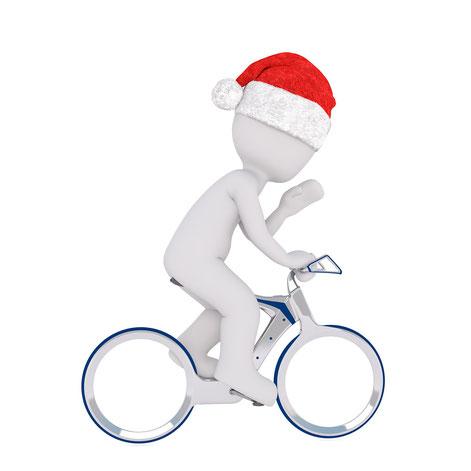 pere noel à vélo