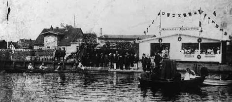 Erstes Anrudern im Gründungsjahr 1908