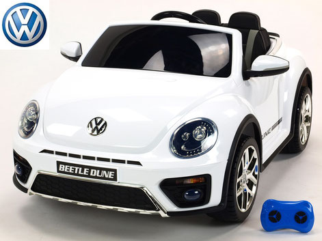 VW/VW Beetle Dune 2019/Kinderauto/Kinder Elektroauto/Kinderautos/Kinder Elektroautos/Kinder Auto/weiß lackiert/lizensiert/