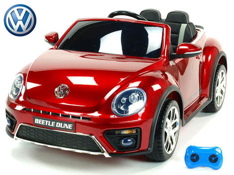 VW/VW Beetle Dune 2019/Kinderauto/Kinder Elektroauto/Kinderautos/Kinder Elektroautos/Kinder Auto/weinrot lackiert/lizensiert/