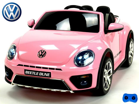 VW/VW Beetle Dune 2019/Kinderauto/Kinder Elektroauto/Kinderautos/Kinder Elektroautos/Kinder Auto/pink lackiert/lizensiert/
