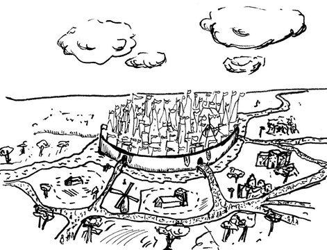 Gehöfte, Bauern, Müller mit ihren Mühlen und das gemeine Volk lebt außerhalb der prachtvollen City. Tausende Schlösser liegen hier beieinander, so das von Cinderella, der kindlichen Kaiserin, Rapunzels Turm, das Dornenschloss von Dornröschen.