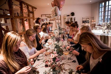 junggesellinnenabschied workshop flowercrownworkshop blumen binden jga hannover