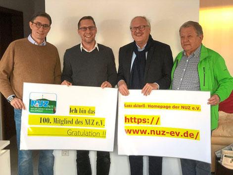Siegfried Rall vom NUZ-Vorsand (Zweiter von rechts) freut sich über neue Vereinsmitglieder. Foto: Privat Foto: Schwarzwälder Bote  Siegfried Rall vom NUZ-Vorsand (Zweiter von rechts) freut sich über neue Vereinsmitglieder. Foto: Privat Foto: Schwarzwälde