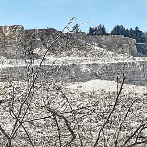 Dieses Bild zeigt laut NUZ die Südwand des Bruchs bei der Albvereinshütte nach der Sprengung. Foto: Privat Foto: Schwarzwälder Bote