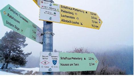 Der Plettenberg ist für Ratshausen und Hausen nicht nur ein Naherholungsgebiet, sondern auch Trinkwasserlieferant. Foto: Daniel Seeburger