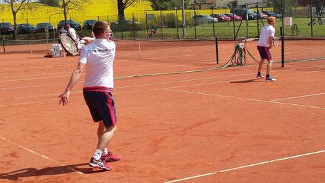 Stefan Seifert und Lukas Ullmann im 2. Doppel