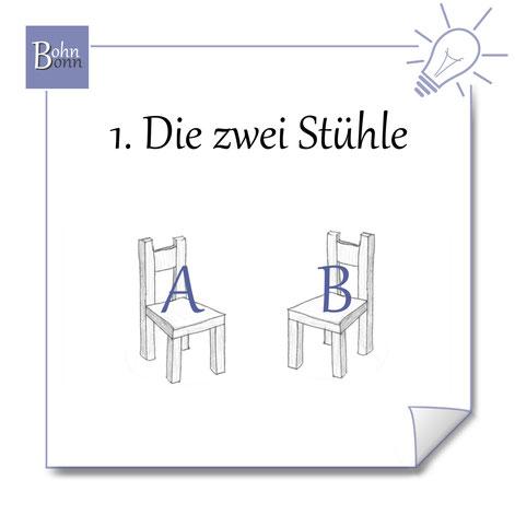 Zwei Stühle als Entscheidungs-Tool