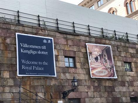 Am königlichen Schloss in Stockholm