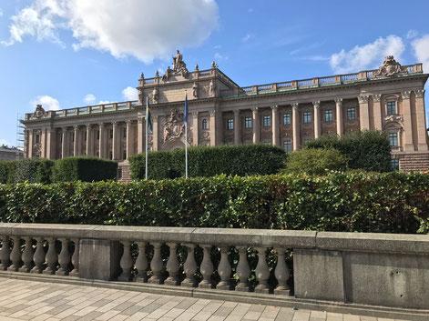 Der schwedische Reichstag in Stockholm