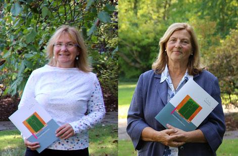 v.l.: Claudia Flintrop und Monika Simon  |  Foto: Jennifer Reffelmann, Bistum Essen