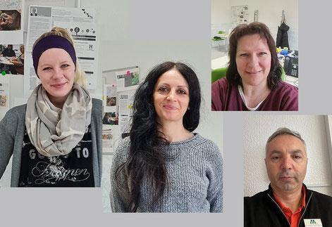 Die Quartierskümmerer v.l.: Jessica Guth, Shabnam Shariatpanahi, Tanja Schiffer und Yener Mengünogul  l  Foto: Duisburger Werkkiste