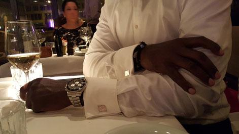 Bild: Handgefertigte luxus Manschettenknöpfe von Morent Berlin im Grill Royal