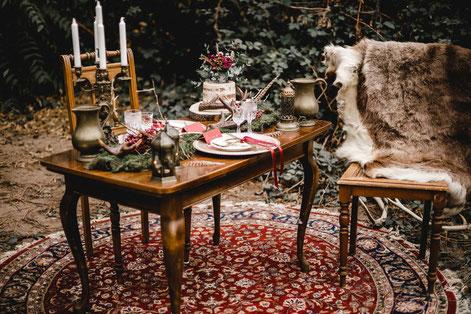 Boho Vintage Hochzeit Bonn Dekoverleih the featherette