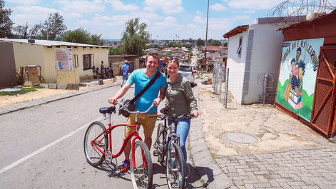 Auf Bicycle-Tour im Township Alexandra