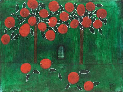 the paradise lurks everywhere, MAJO 99, acrylic on canvas