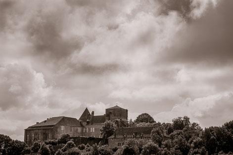 Château de Béduer, vue depuis le village.