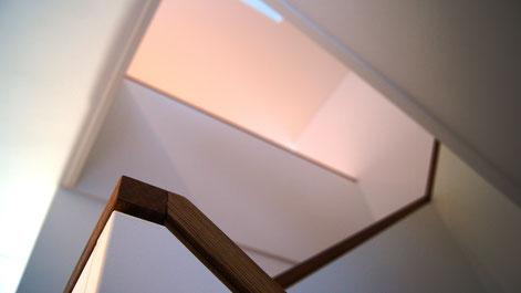 Treppengeländer mit Handlauf in Eiche geölt