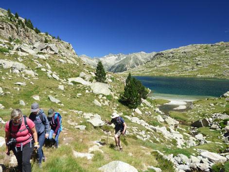 Randonnée des lacs dans les Pyrénées