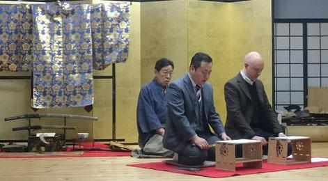 左より― 宇髙通成氏、宇髙徳成(ノリシゲ)氏、ディエゴ氏