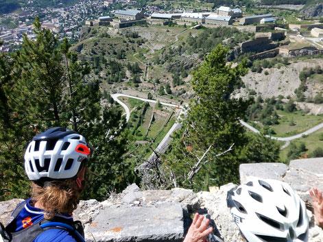 vélo vtt à briançon visite des forts vauban