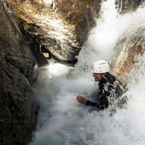 canyon briançon, serre chevalier dans les hautes alpes, découverte