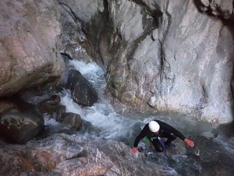 canyoning à proximité de Briançon