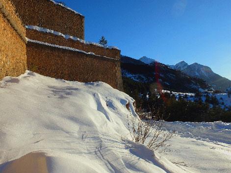sortie raquette à neige sur Briançon