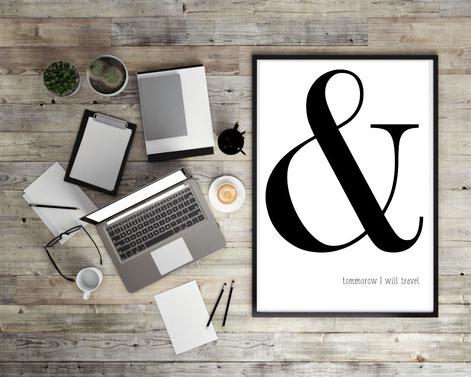 Typografie Poster, Geschenkideen, Typografie zum Thema Reisen