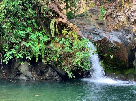 Waterval bij Loksado op Kalimantan