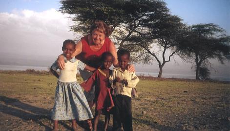 Doris Kliehm als Unterstützerin in Addis Abeba, Äthiopien.