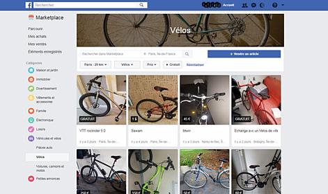 annonces vélos d'occasion sur facebook