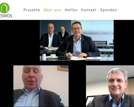 Axel Gedaschko (oben) heißt Jörg Keim (unten links) und Roland Blank nach ihrer Wahl herzlich im Verwaltungsrat willkommen!