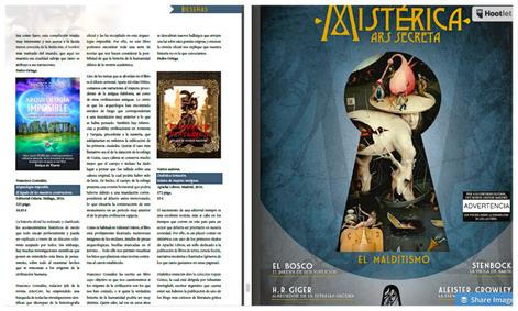 Reseña del libro Arqueología Imposible en la revista Mistérica