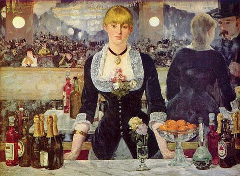 《フォリー・ベルジェールのバー》1882年
