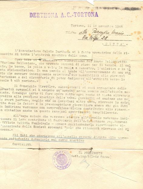 1946 Presentazione del Dellepiane