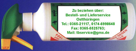 TBservice Ostthüringen, Tel.: 0365 21117, Fax: 0365 5525763, Mail: tbservice@gmx.de
