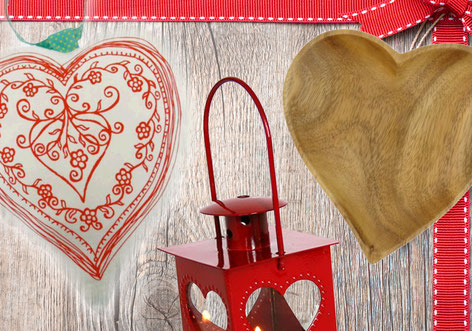 Mit Herz: Warum nicht mal mit dem Symbol der Liebe und Freundschaft Danke sagen?
