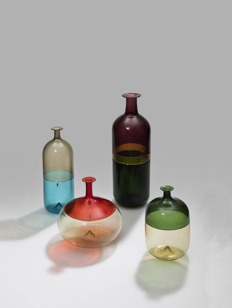 "Tapio Wirkkala, Ausführung Venini & Co., Murano, Vasen ""Bolle"", 1966-1968, Lutz H. Holtz, Berlin, Foto Martin Adam © VG Bild-Kunst"