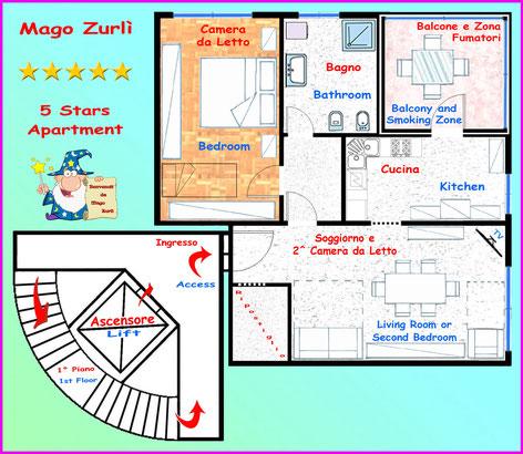 Mappa Appartamento Mago Zurlì