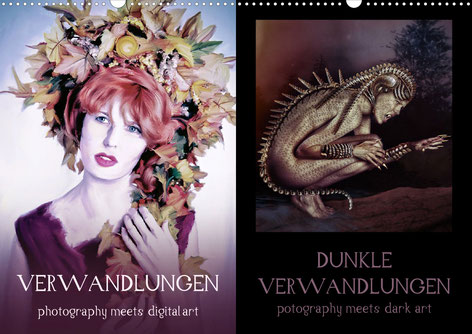 Calvendo Kalender Cover von dem Model Ravienne Art digital bearbeitet