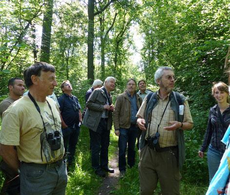 Tagungsteilnehmer bei der Exkursion in der Davert (Foto: B. Fröhlich-Schmitt)