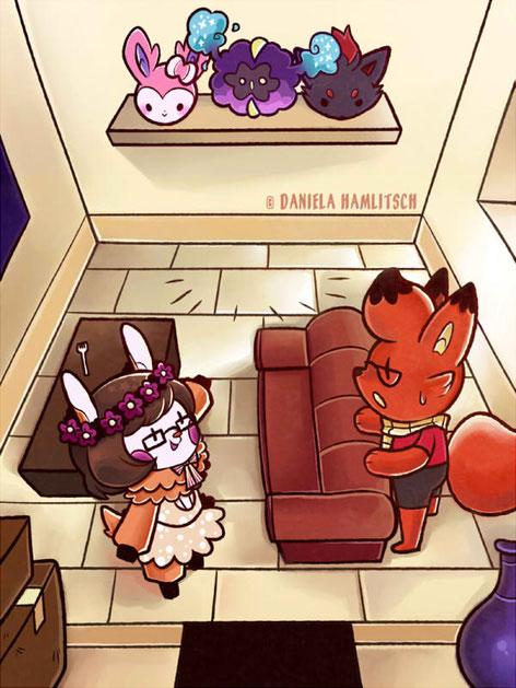'Unsere erste gemeinsame Wohnung!' - Illustration (2017)