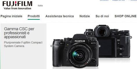 Fujifilm sito ufficiale