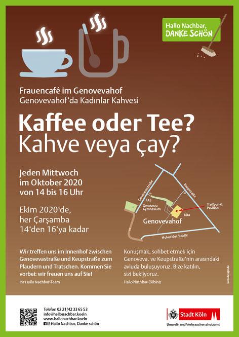 """Info-Poster """"Kaffee oder Tee?"""""""