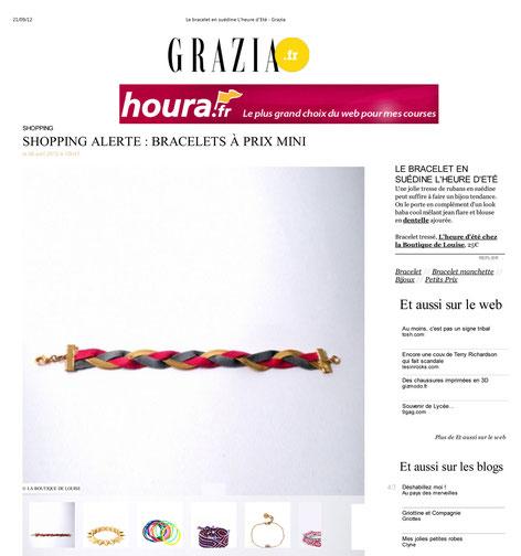 Le bracelet Ginger Rockers est sur Grazia.fr en avril 2012