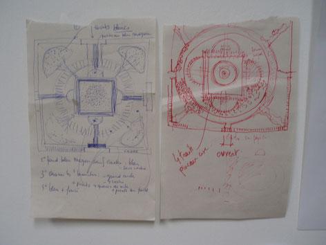 croquis pour la réalisation d'un mandala tibétain